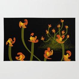 Flowerthread No1 [orange blooms] Rug