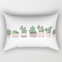 Happy succulent cactuses Rectangular Pillow