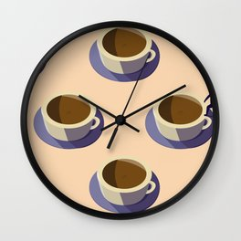 Coffee Crawl Wall Clock