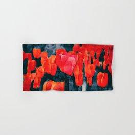 Tulip Field at Night Hand & Bath Towel