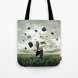 Like the whole world he ran Tote Bag