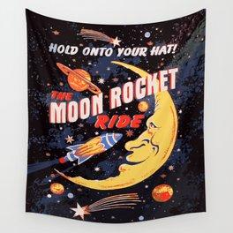Rocket Moon Ride (vintage) Wall Tapestry