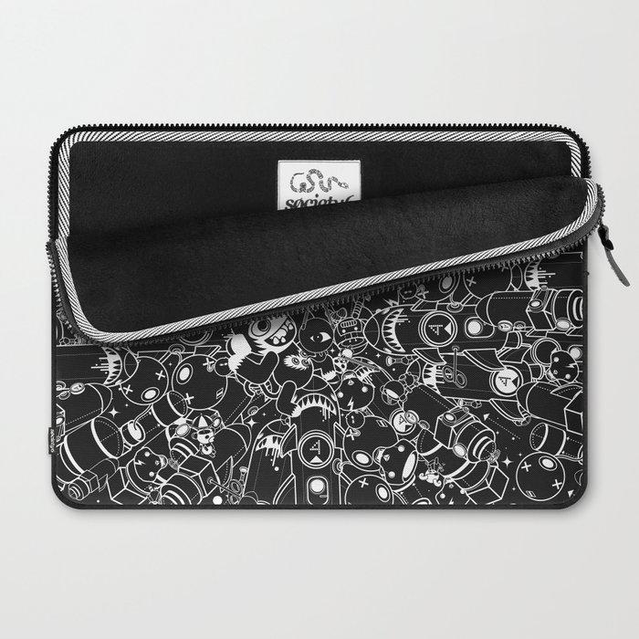 For Good For Evil - Black on White Laptop Sleeve