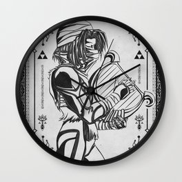 Legend of Zelda Shiek Princess Zelda Geek Line Art Wall Clock