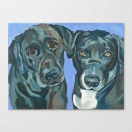 Emily and Annabel Dog Portrait Canvas Print