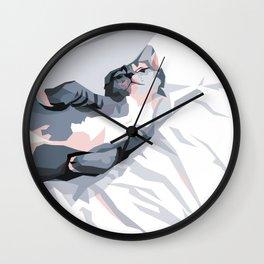 Sleepy Kitten Wall Clock