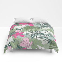 Exotic flowers Comforters