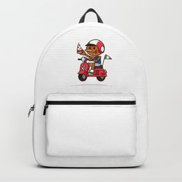 Italy! Pinocchio Eat Pizza and Ride Vespa Backpack