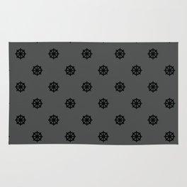 Dharma Wheel Pattern (grey) Rug