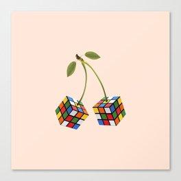 Cherry rubik Canvas Print