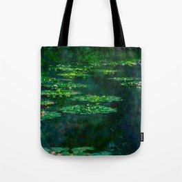 Claude Monet Impressionist Landscape Oil Painting Waterlilies Tote Bag