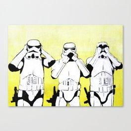 Hear No Empire, Speak No Empire, See No Empire Canvas Print