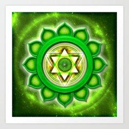 """Anahata Chakra - Heart Chakra - Series """"Open Chakra"""" Art Print"""