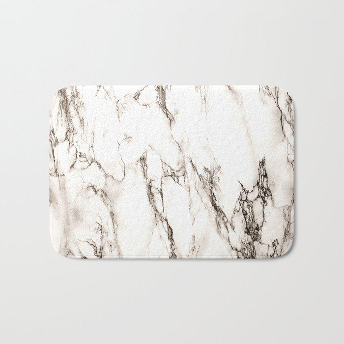 Brown Veined Marble Bath Mat