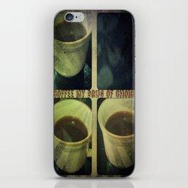 Coffee is my drug print iPhone Skin