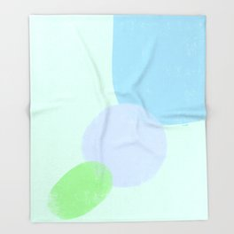 Minimal Abstract Modern Minimalist Minimalism Blue Throw Blanket