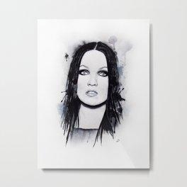 Tarja Turunen Portrait. Metal Print