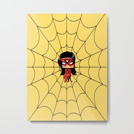 Chibi Spider Woman Metal Print