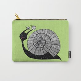 Cartoon Snail With Spiral Eyes Carry-All Pouch