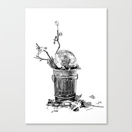 The World Has Been Trashed Canvas Print