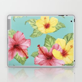 Tropical Hawaiian Hibiscus Floral Print Laptop & iPad Skin