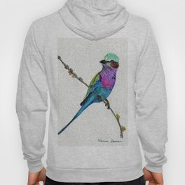 Lilac Breasted Roller by Maureen Donovan Hoody