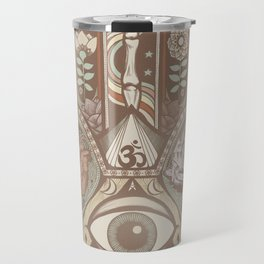 Hamsa Hand Faded Colour Travel Mug