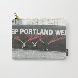Keep Portland Weird and Embroidered  Carry-All Pouch