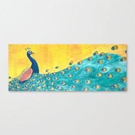 Peacock - Majestic Canvas Print