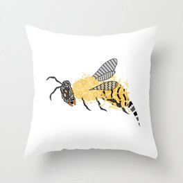 Abstract Bee Throw Pillow