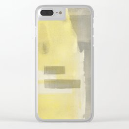 Stasis Gray & Gold 1 Clear iPhone Case