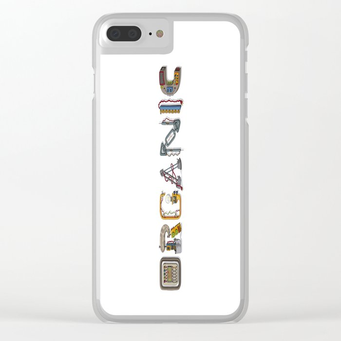 MACHINE LETTERS - ORGANIC Clear iPhone Case