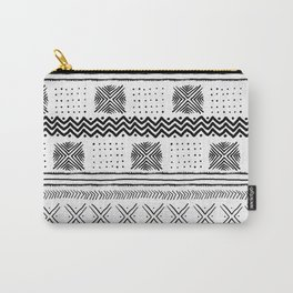 Mud Cloth Geometric Stripe Carry-All Pouch