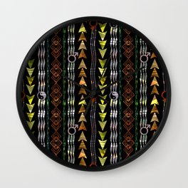 Abstract ethnic pattern. Wall Clock