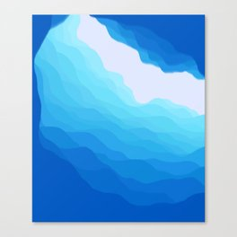 Icy Abyss Canvas Print