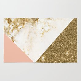 Gold marble collage Rug