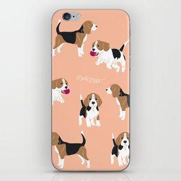 Salmon Pink Beagle iPhone Skin