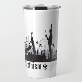 One Sixth Ism (Black World) Travel Mug