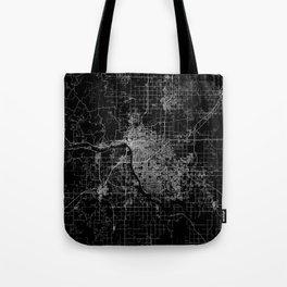 Tulsa map Oklahoma Tote Bag