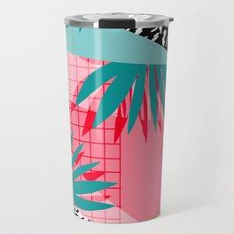 Bingo - throwback retro memphis neon tropical socal desert festival trendy hipster pattern pop art Travel Mug