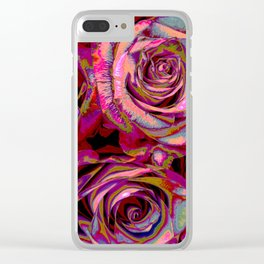 Extreme Roses Clear iPhone Case