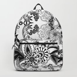 Black Paisley Backpack