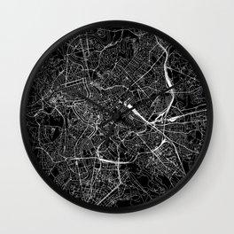 Rome Black Map Wall Clock