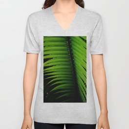 Palm tree leaf Unisex V-Neck