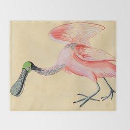 Roseate Spoonbill Throw Blanket