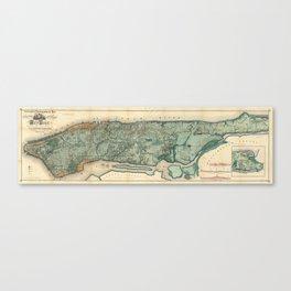 Egbert Viele 1865 Topographic Map of New York City Canvas Print