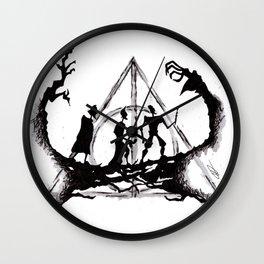 The Three Brothers Inktober Drawing Wall Clock
