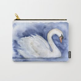 Swan Watercolor Painting Carry-All Pouch