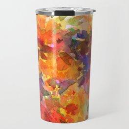 Orange Wildflower Patch Travel Mug