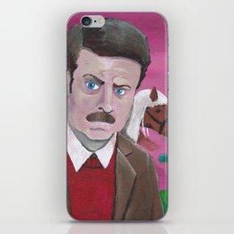 Ron Swanson - American Hero iPhone Skin
